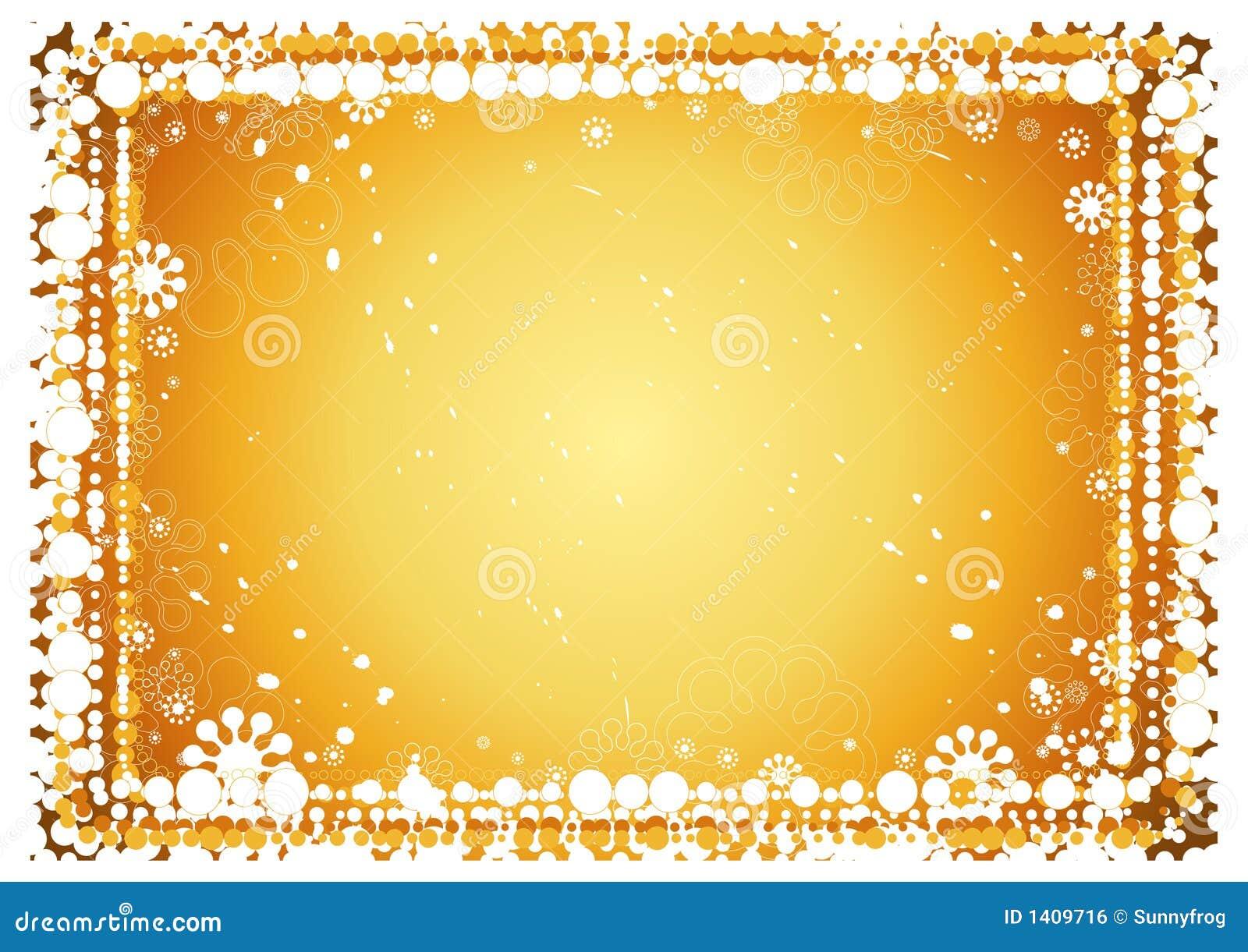 金黄背景的圣诞节