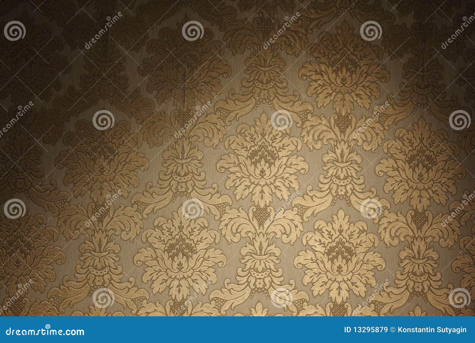 金黄葡萄酒墙纸
