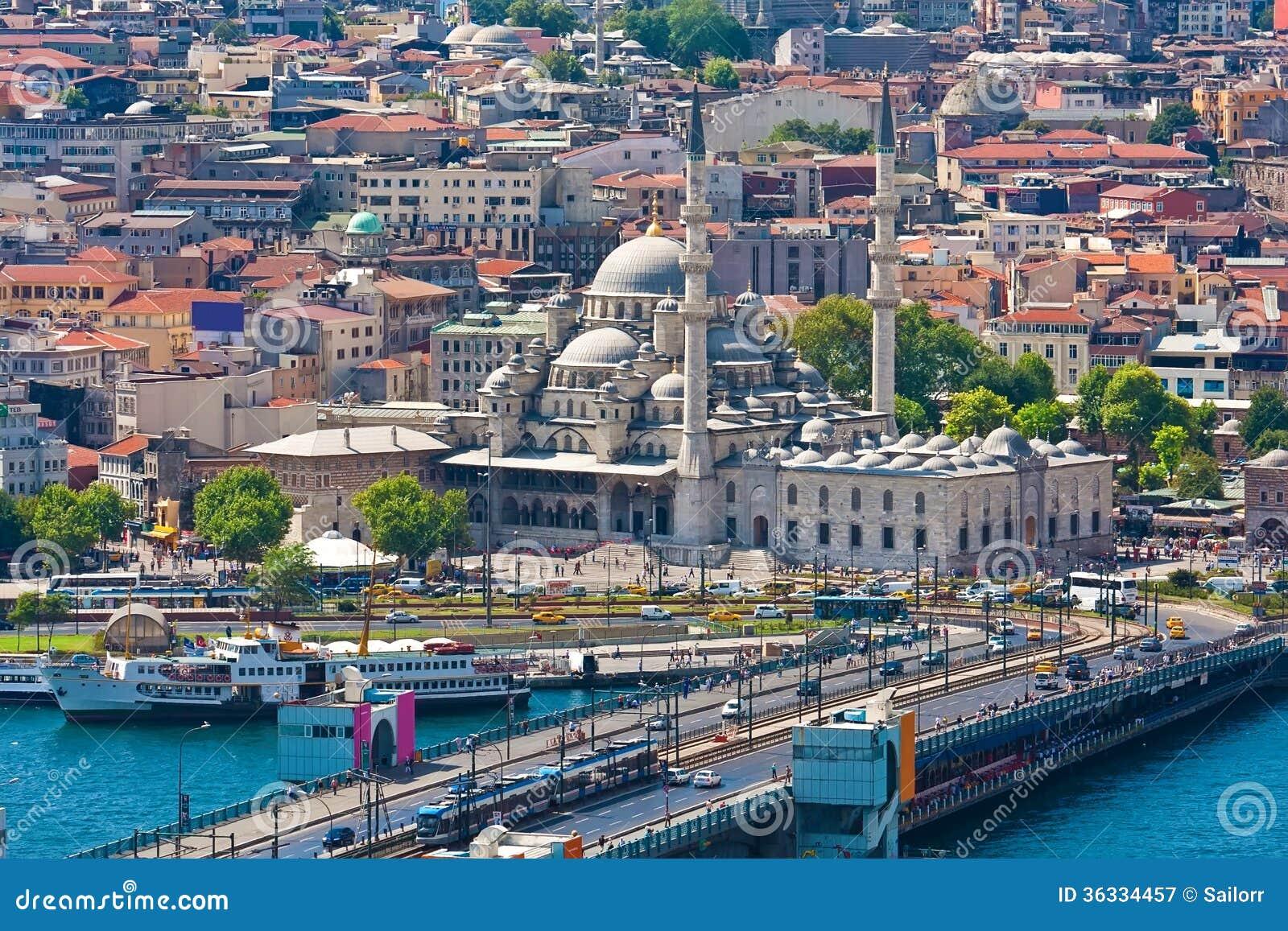 金黄垫铁在伊斯坦布尔