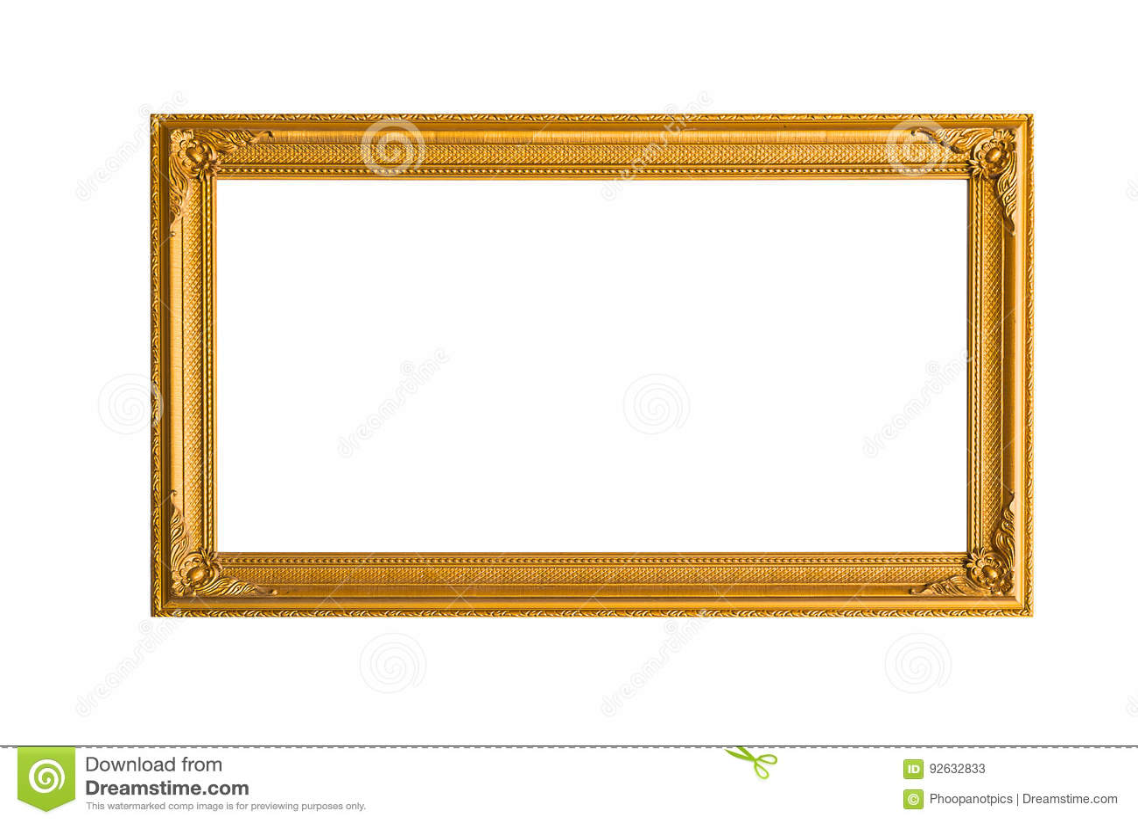 金黄的框架