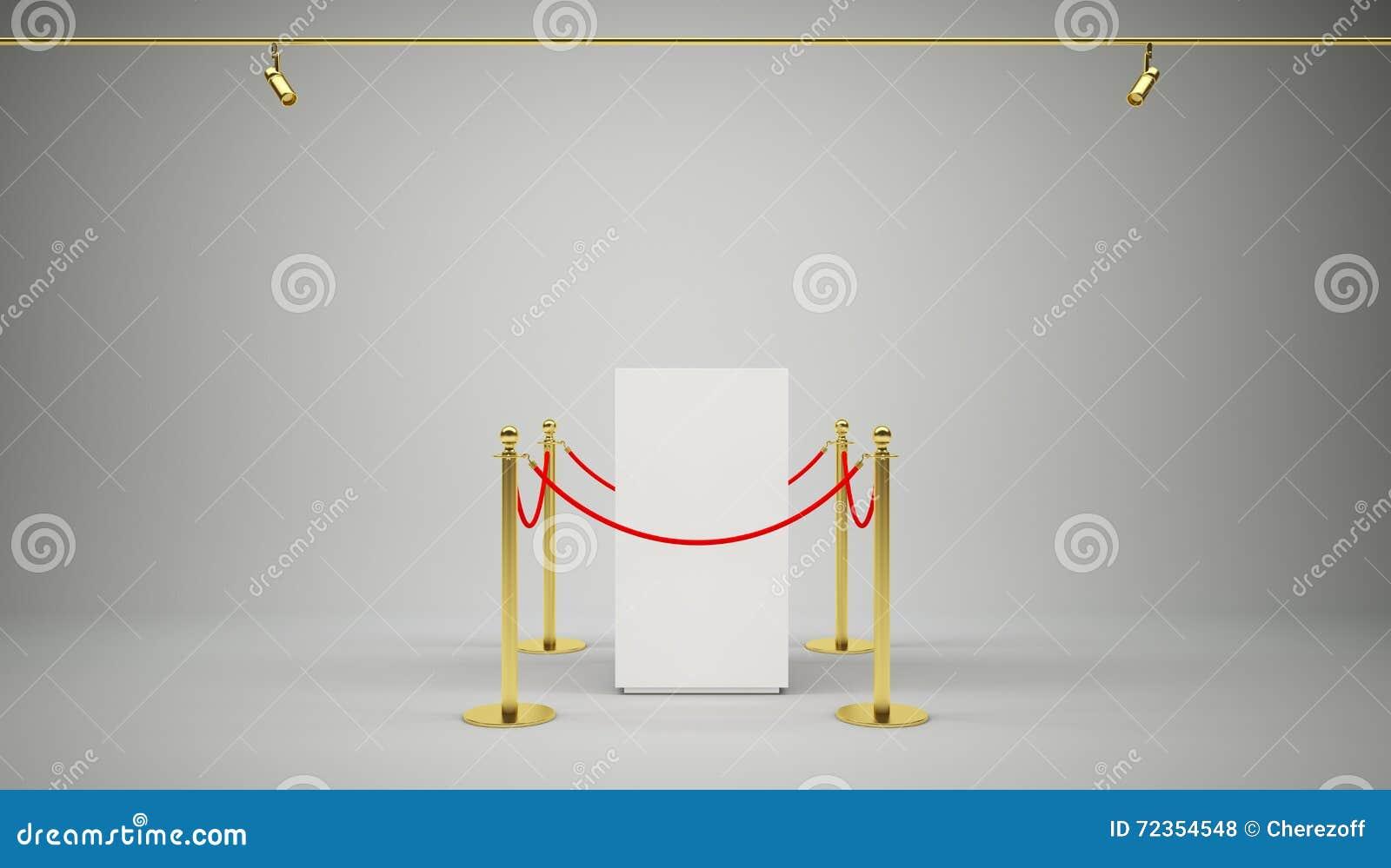 金黄篱芭,有红色障碍绳索的柱子