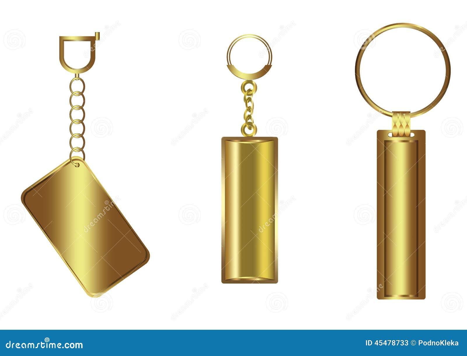 金黄豪华钥匙型片链子集合