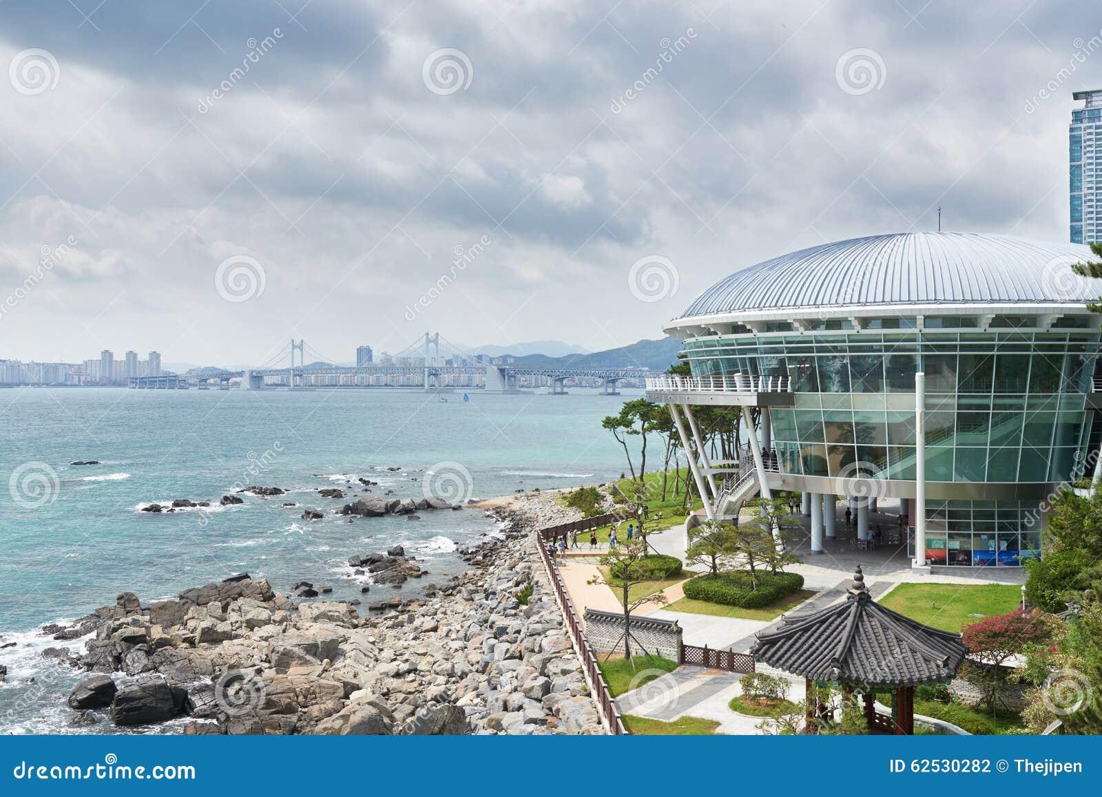 釜山,韩国- 2015年9月19日:Nurimaru亚太经合房子