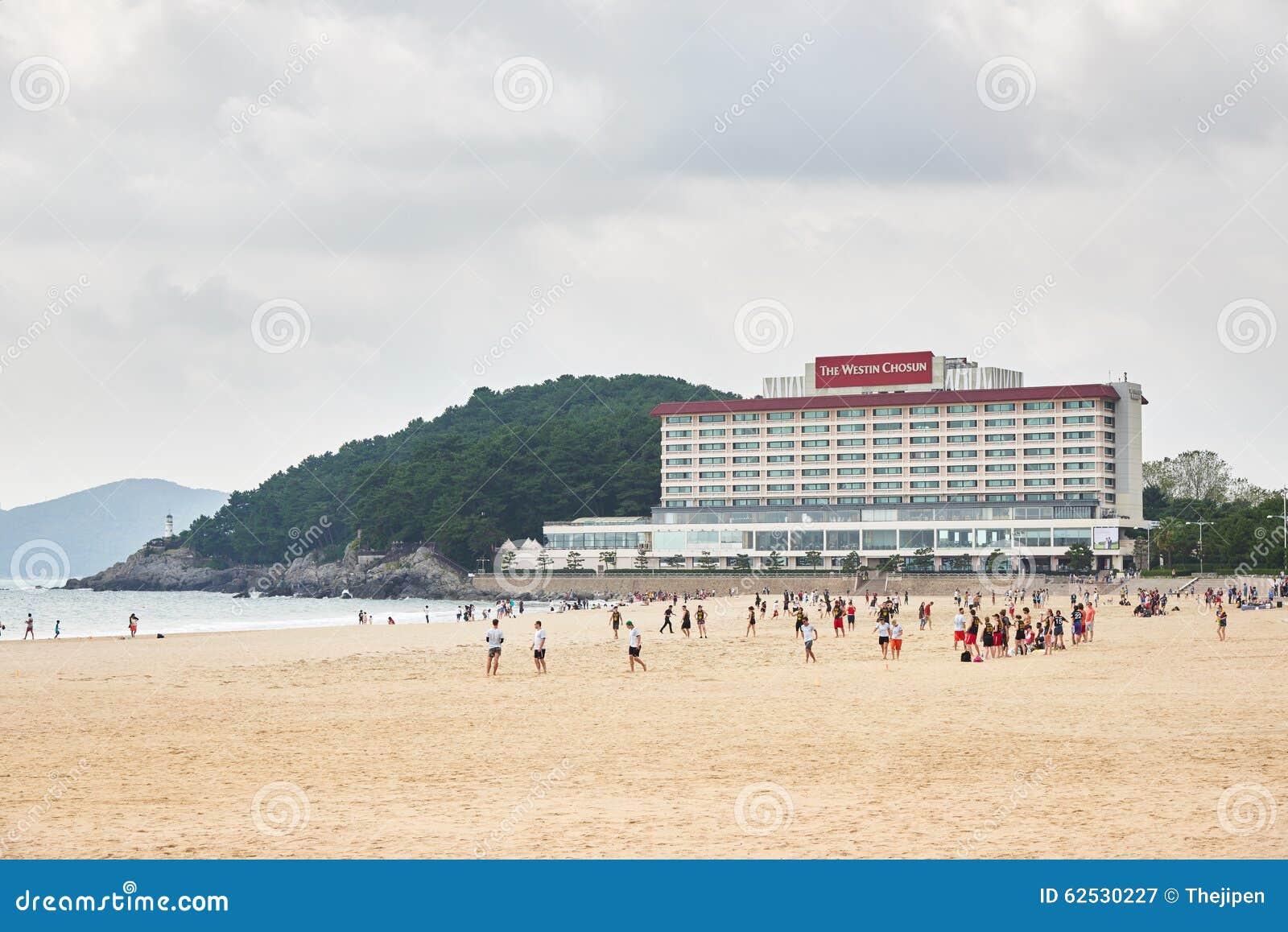 釜山,韩国- 2015年9月19日:Westin朝鲜饭店