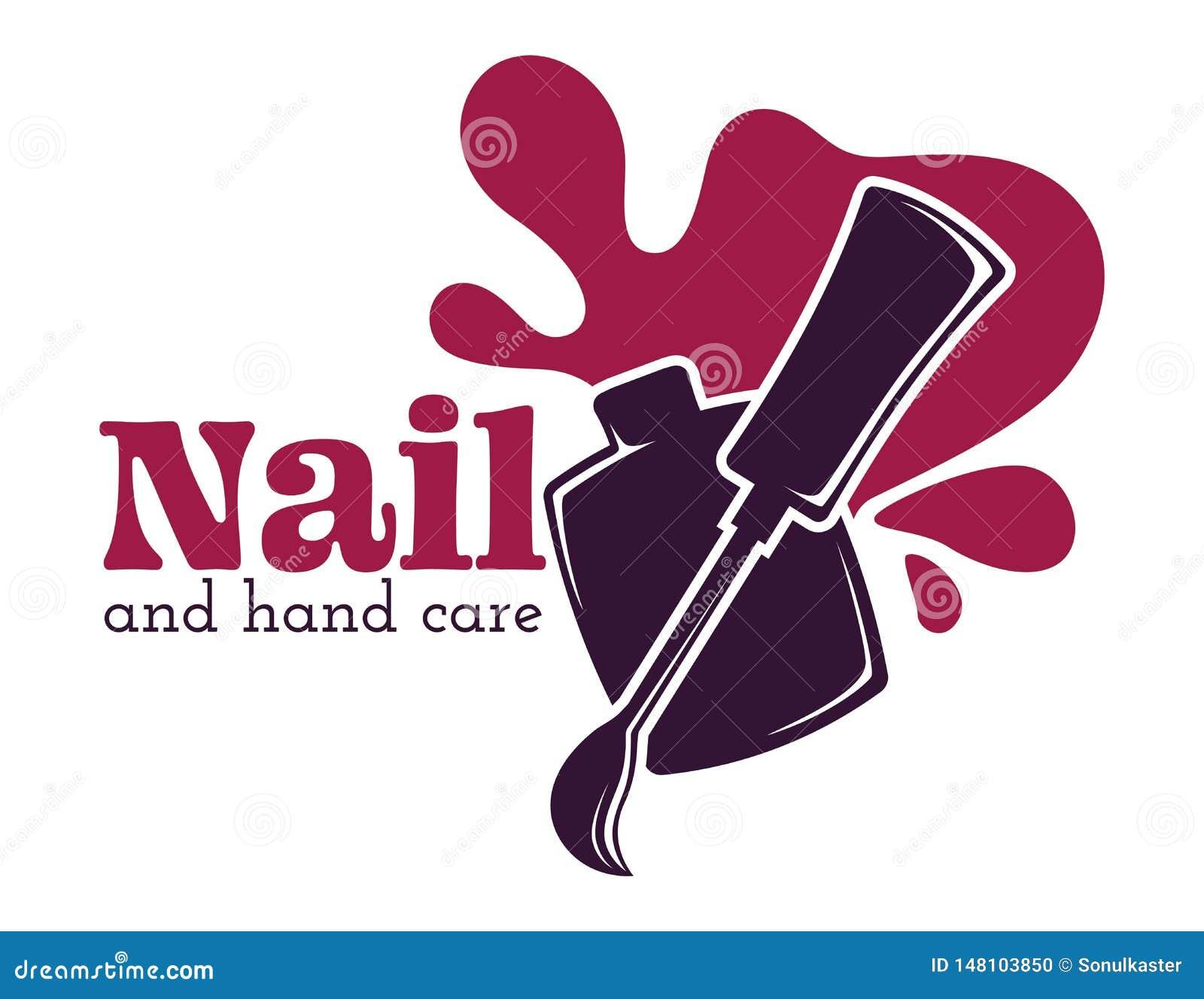 钉子和手关心被隔绝的象指甲油或油漆