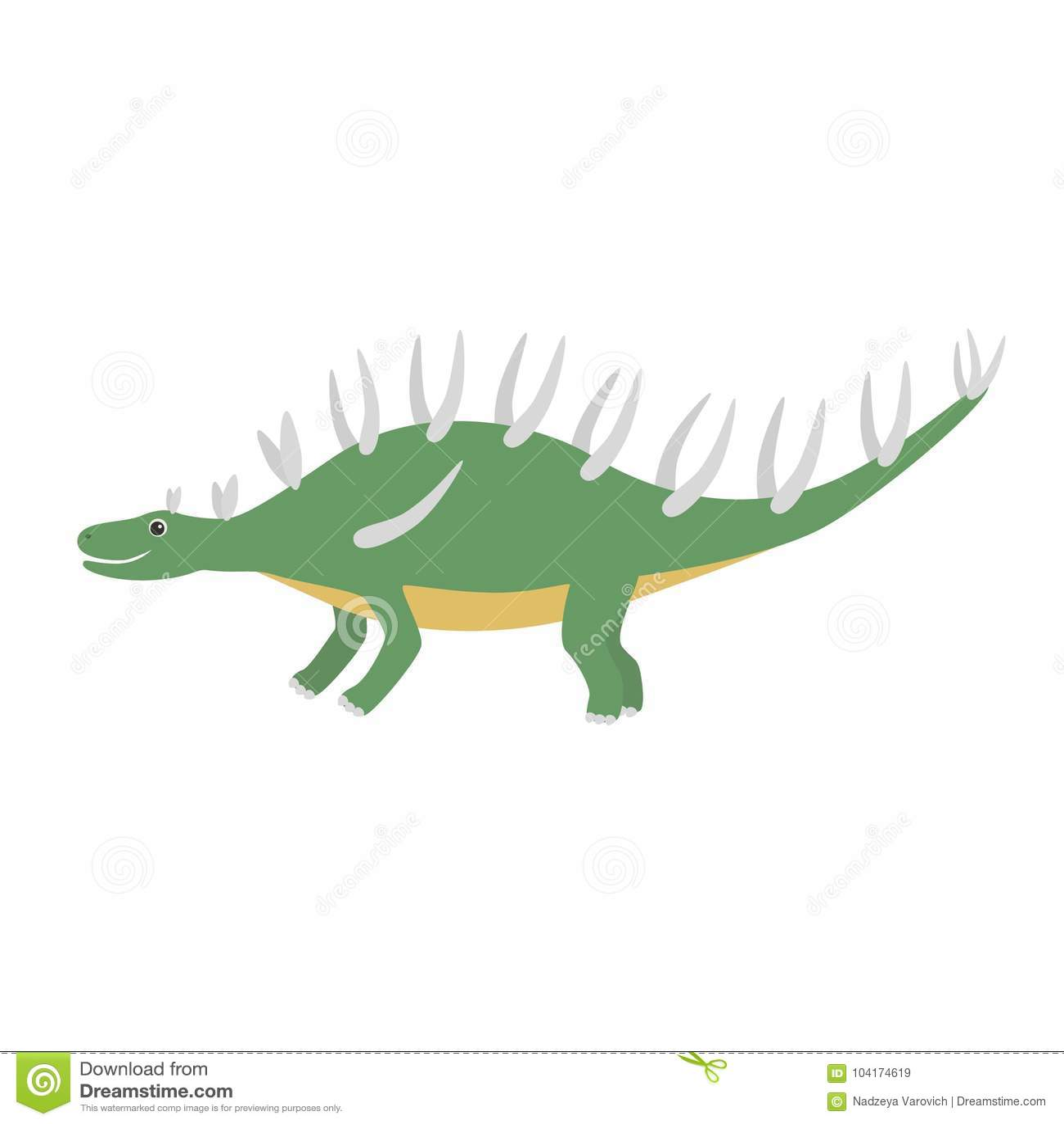 钉状龙象 钉状龙象的动画片例证网的