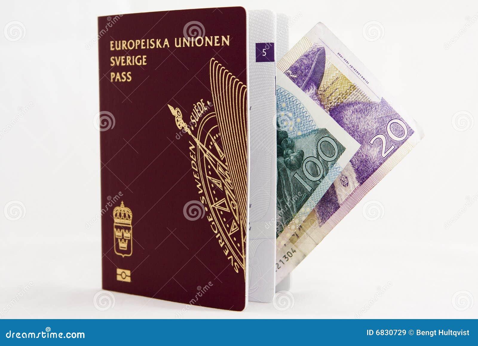 钞票护照瑞典