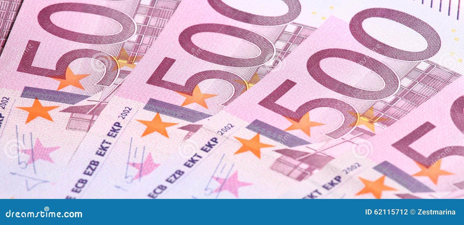 钞票欧元五第百