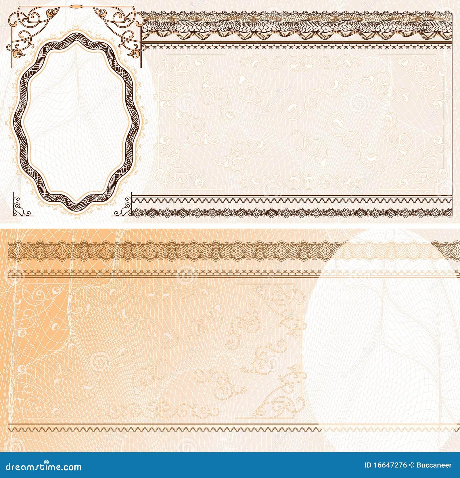 钞票空白格式