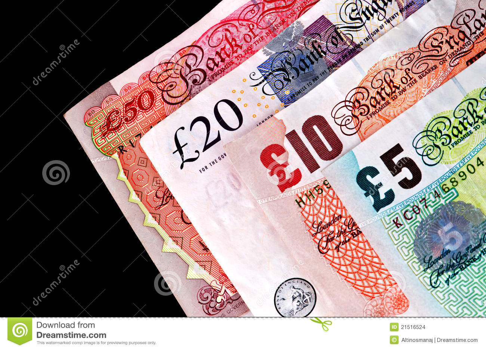 钞票货币货币纸张英国