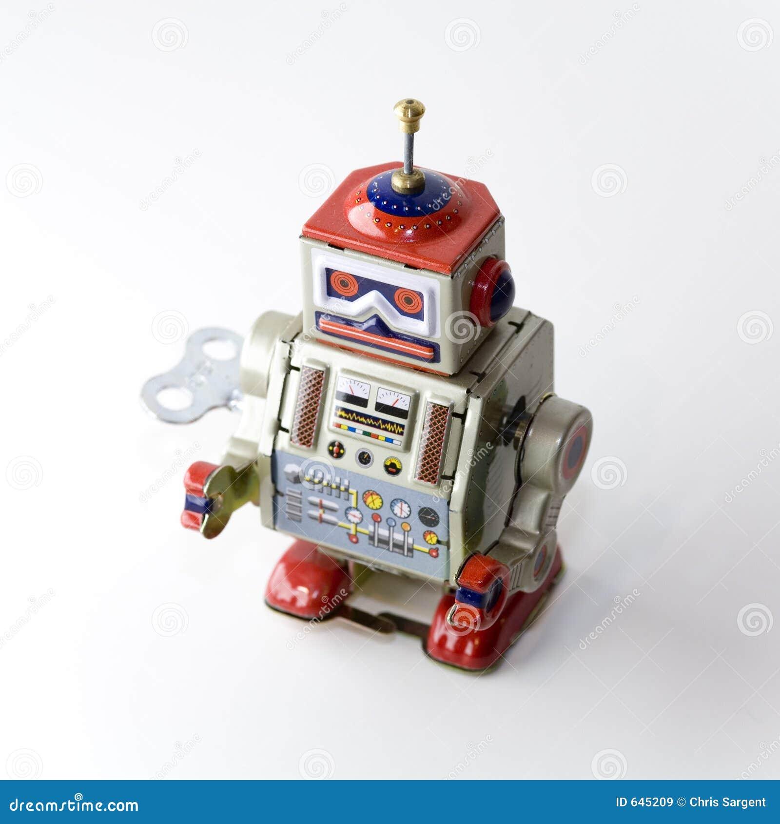 钟表机构可收帐的机器人玩具