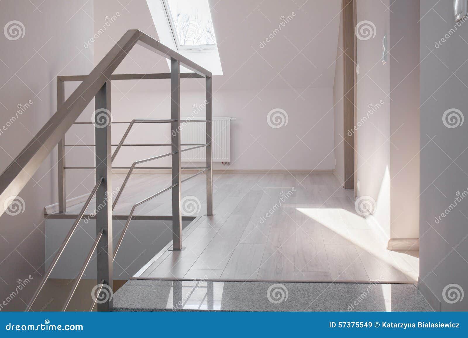 钢扶手栏杆和大理石台阶