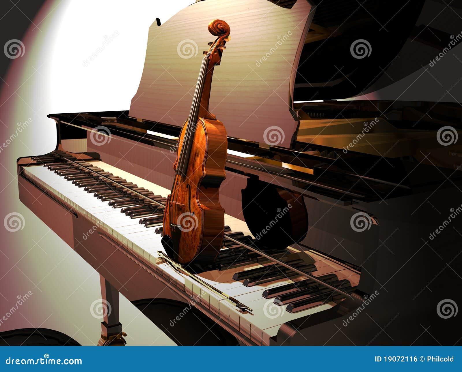 钢琴音乐会小提琴图片