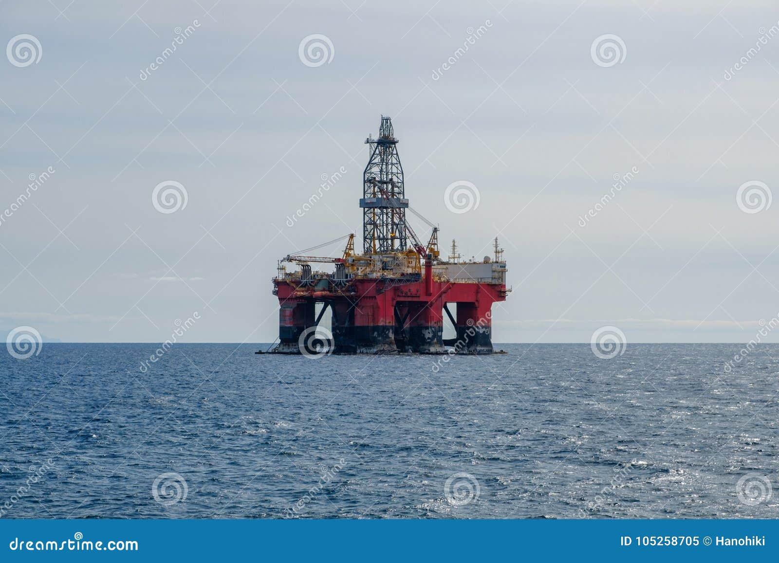 钻platfom,抽油装置,近海钻子平台
