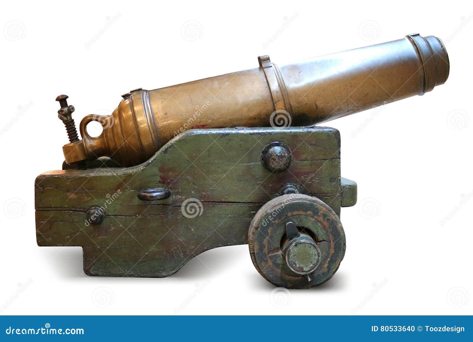 铁在白色背景的火炮大炮