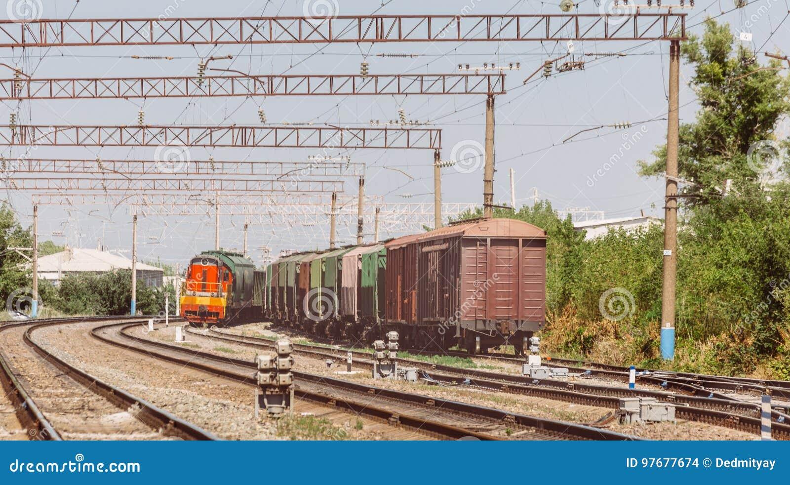 铁路和货车,商业运输概念