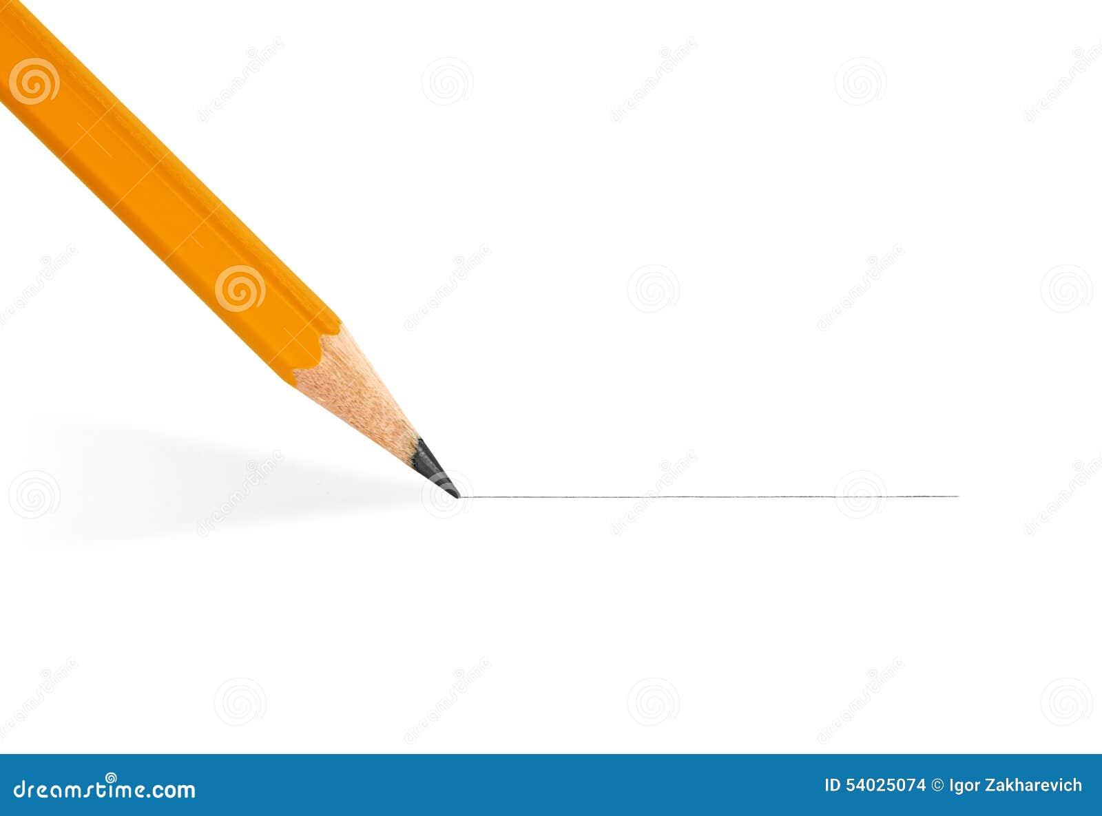 铅笔画一条直线