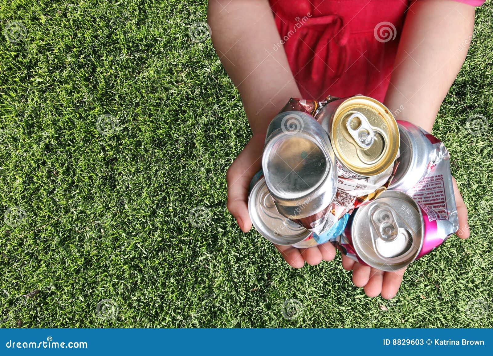 铝罐被击碎的回收