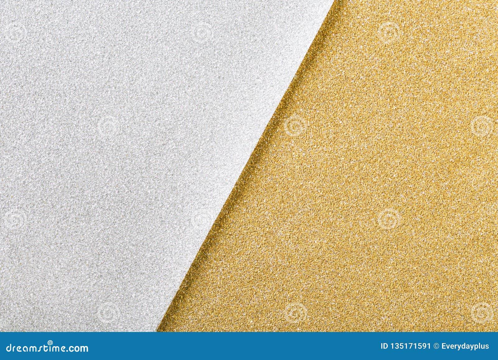 银和金子圣诞节闪烁纸背景
