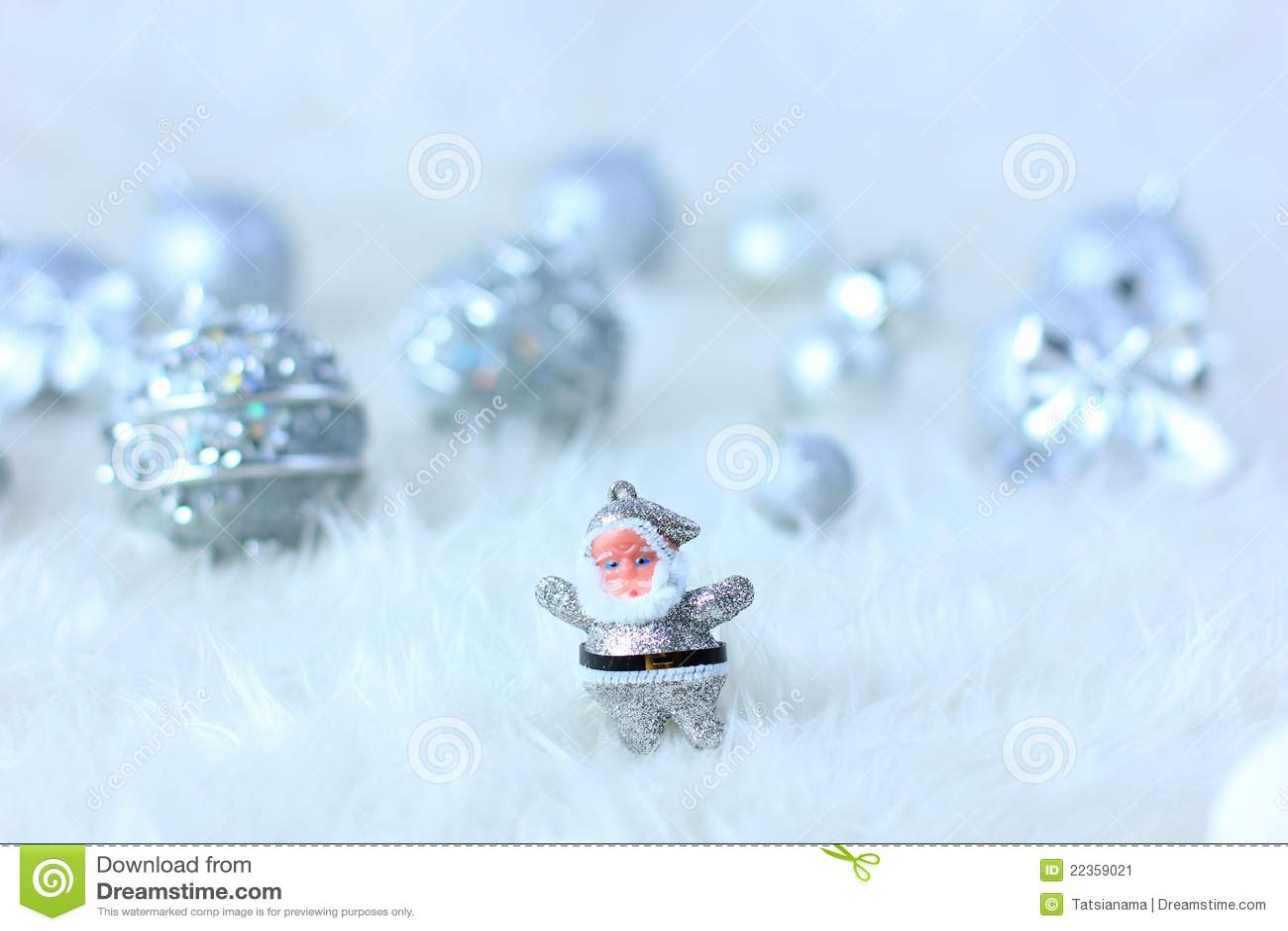 银色圣诞节装饰
