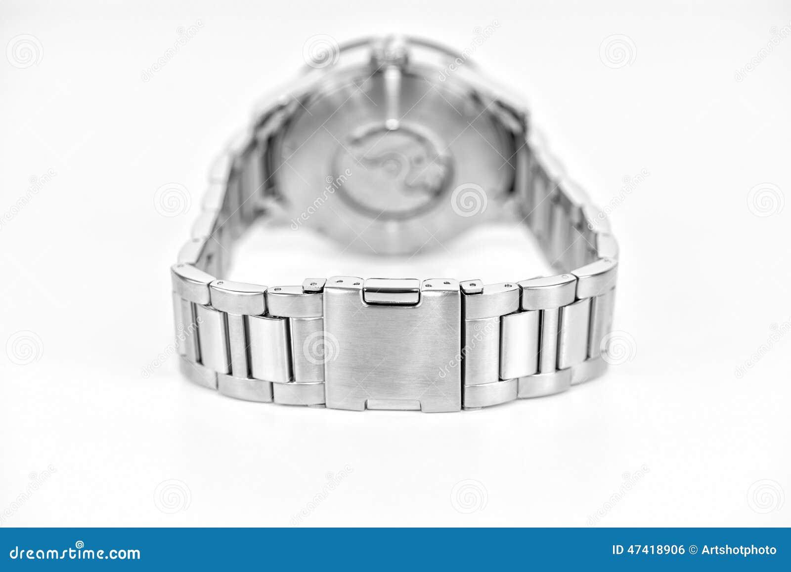 银色手表细节
