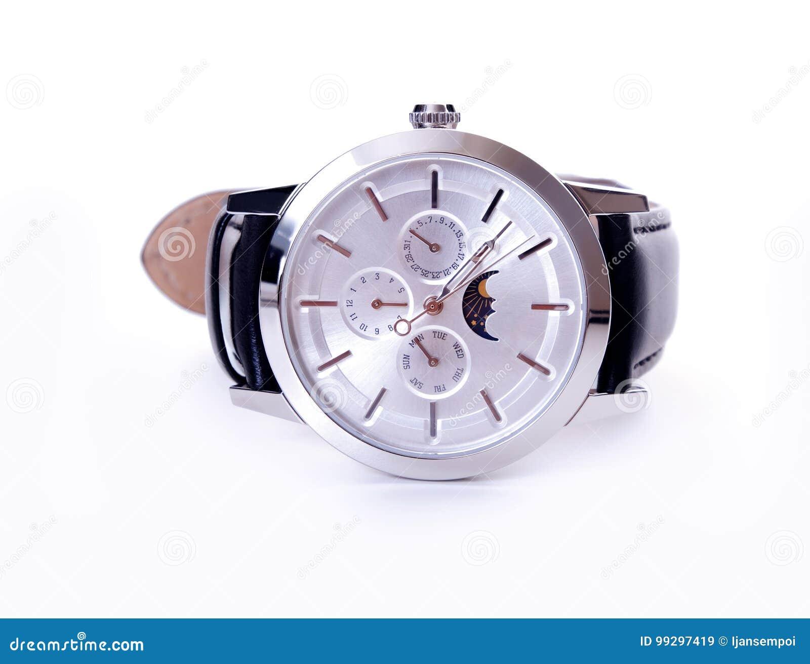 银色月亮阶段手表