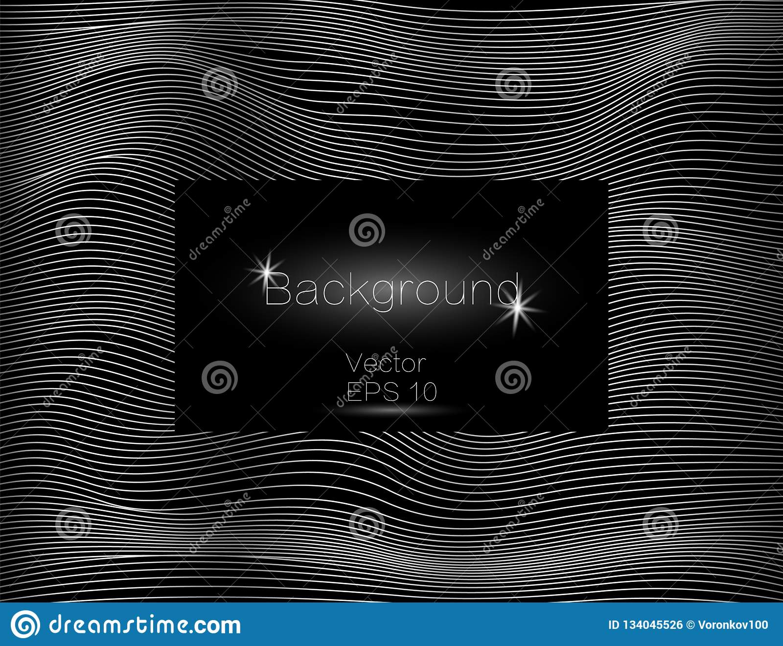 银色波浪,线豪华 传染媒介纹理条纹背景,与黑暗的方形的板材 小条的绕
