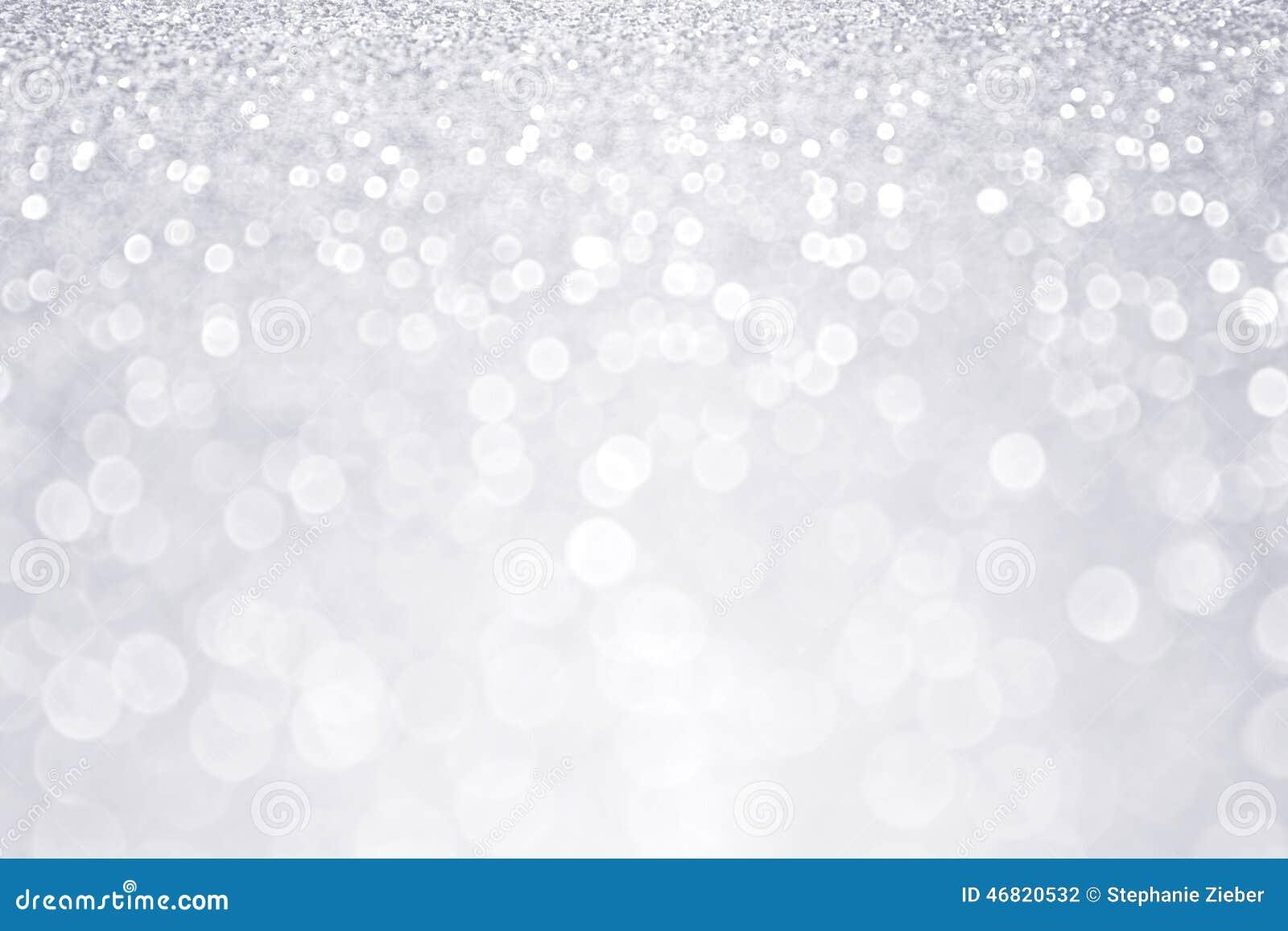 银色闪烁冬天圣诞节背景