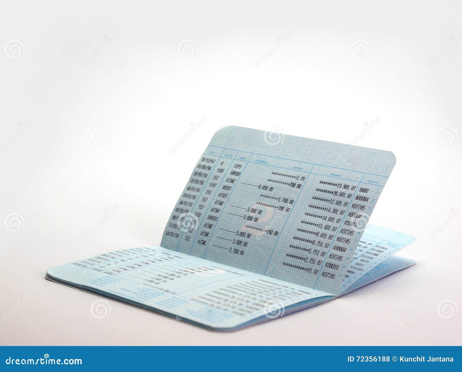 银行帐户存款簿