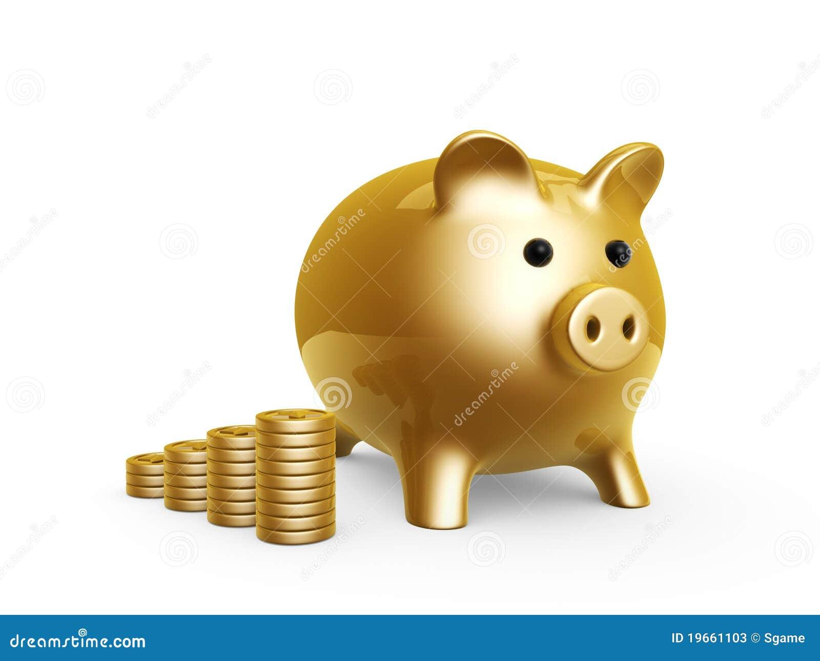 银行猪图片