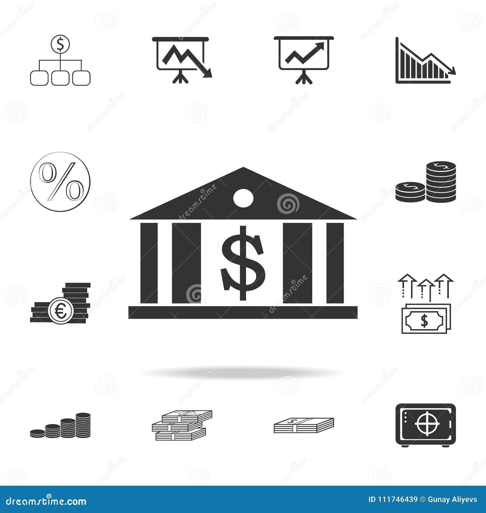 银行象 详细的套财务、银行业务和赢利元素象 优质质量图形设计 其中一个汇集象