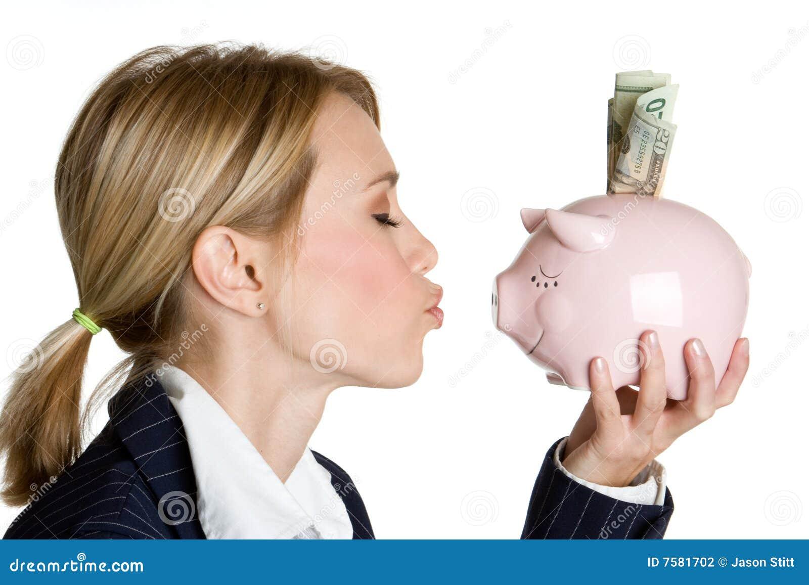 银行贪心妇女