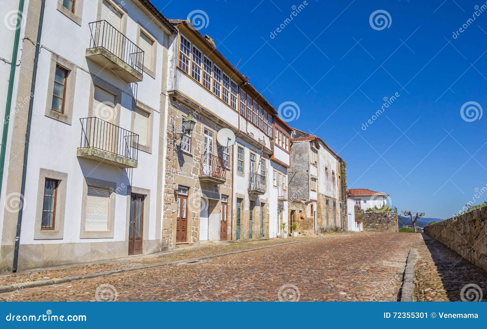 铺有鹅卵石的街道在瓦伦西亚做米尼奥省