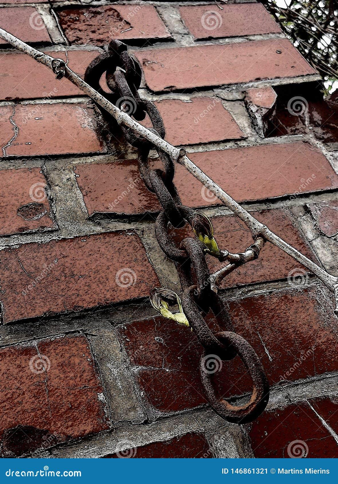 链子和墙壁