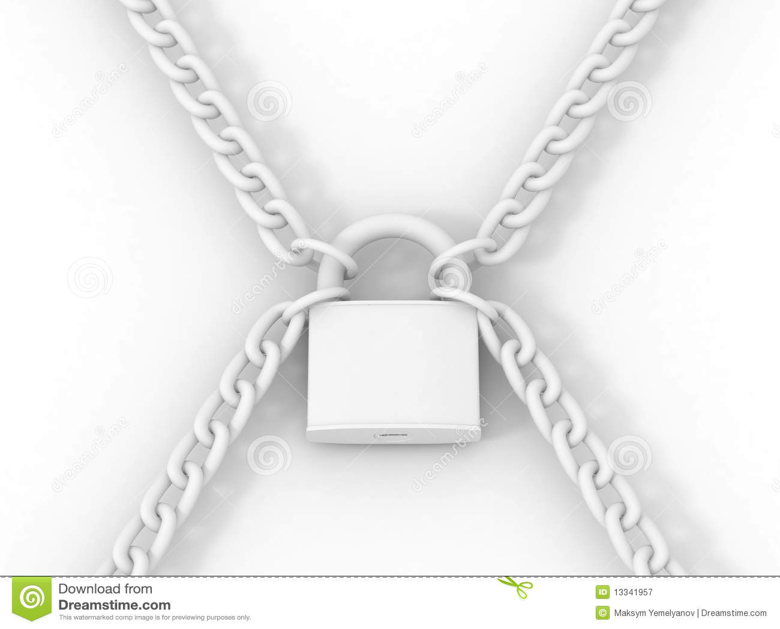 3d图片白色锁定锁上社区.链子a图片背景小屋图片