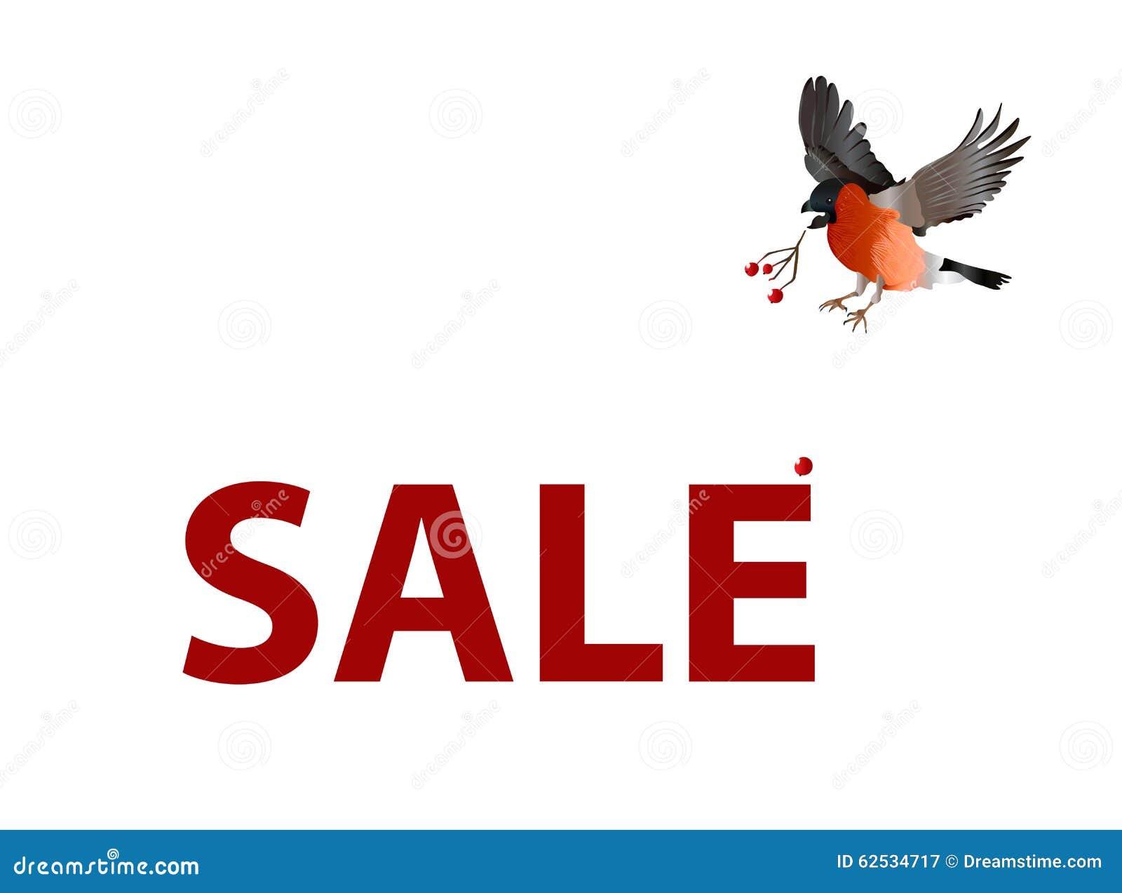 销售传染媒介横幅 鸟丢失它的看见销售横幅的莓果