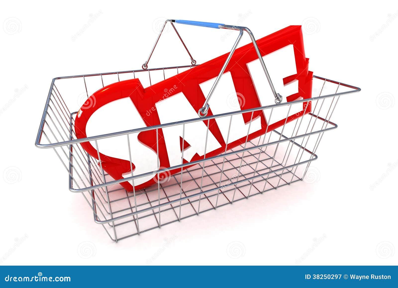 销售篮子例证