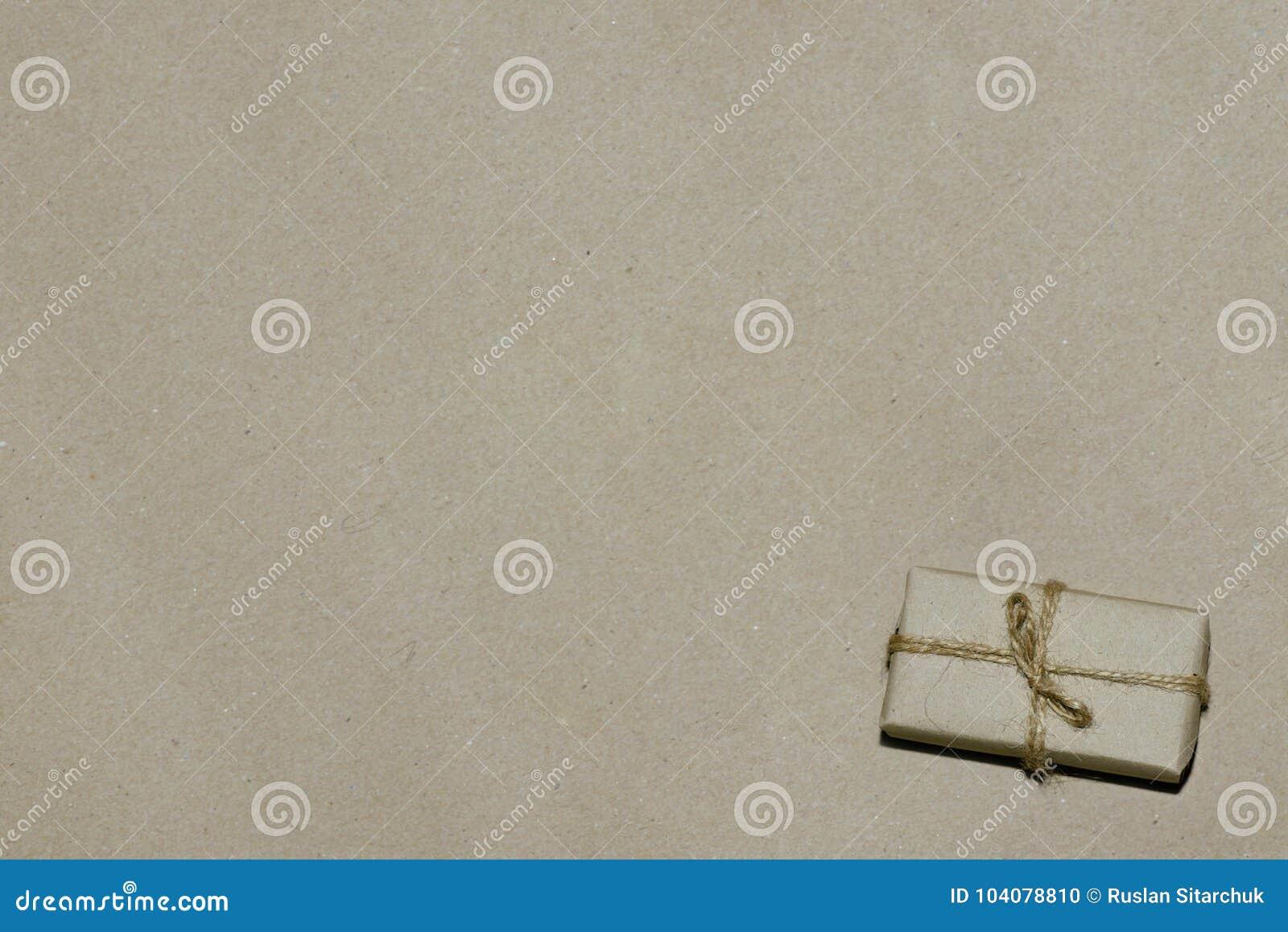 销售,给在牛皮纸的礼物做广告,空间为文本
