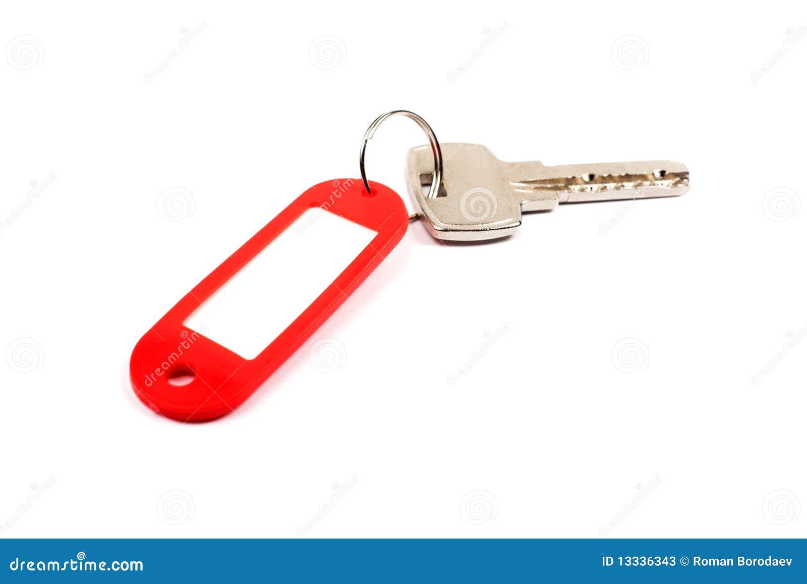 锁上红色小装饰品