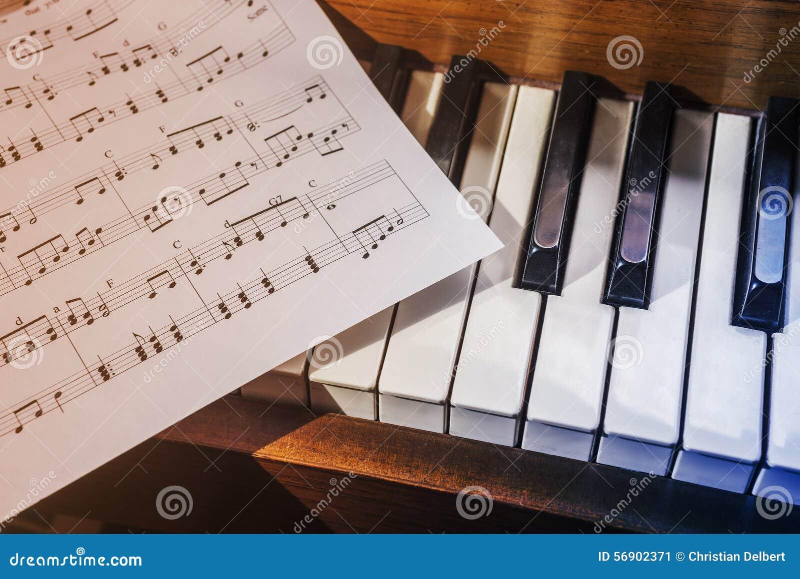 锁上音乐钢琴页