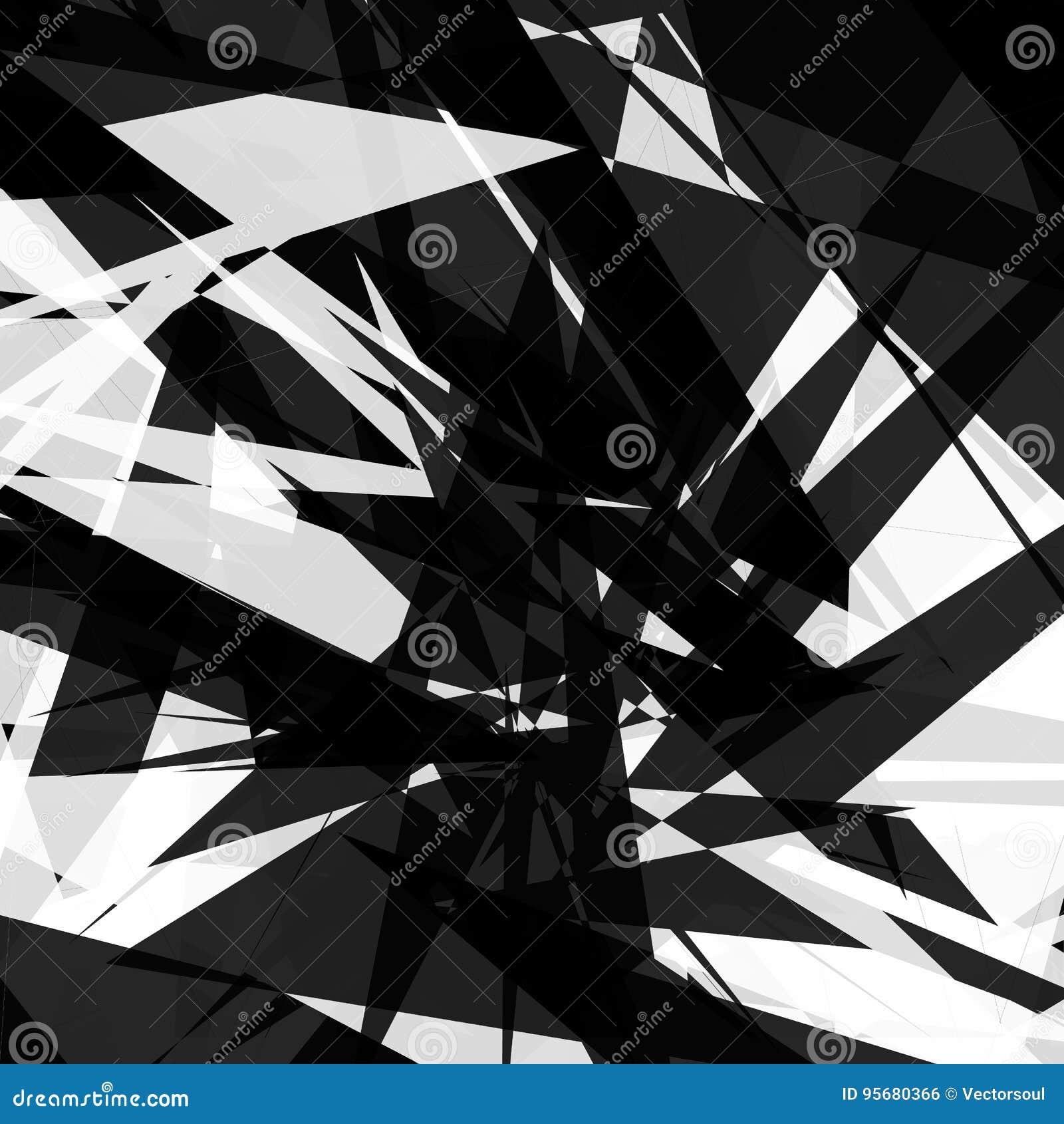 锋利,概略的几何样式 涨落不定,混乱任意形状