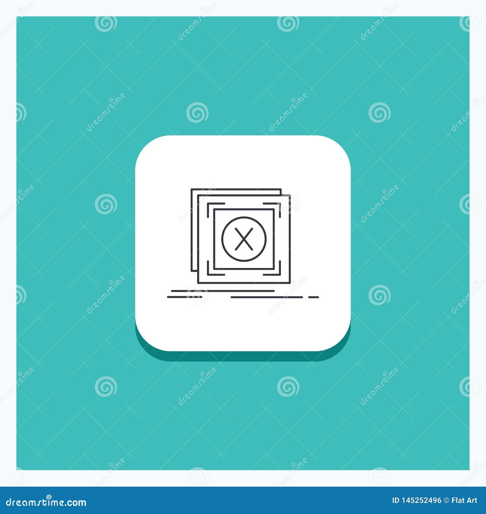 错误的,应用,消息,问题,服务器线象绿松石背景圆的按钮