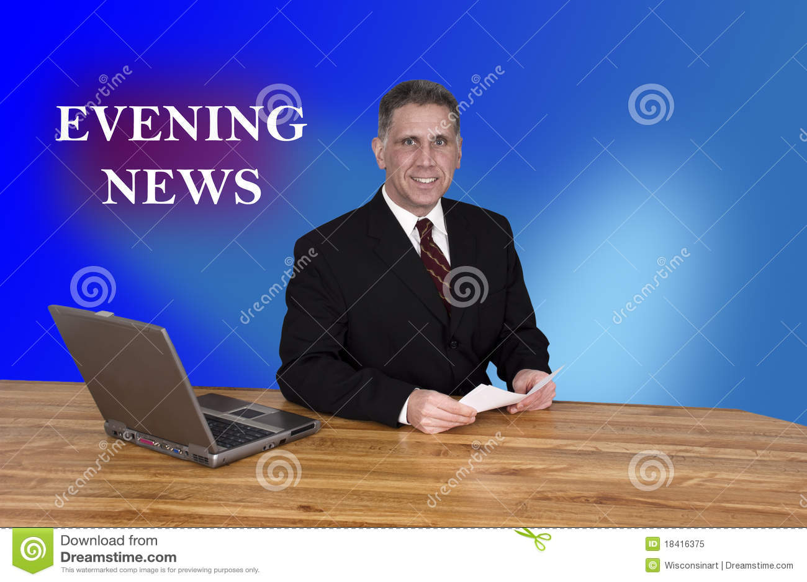锚点夜间人新闻新闻申报人电视