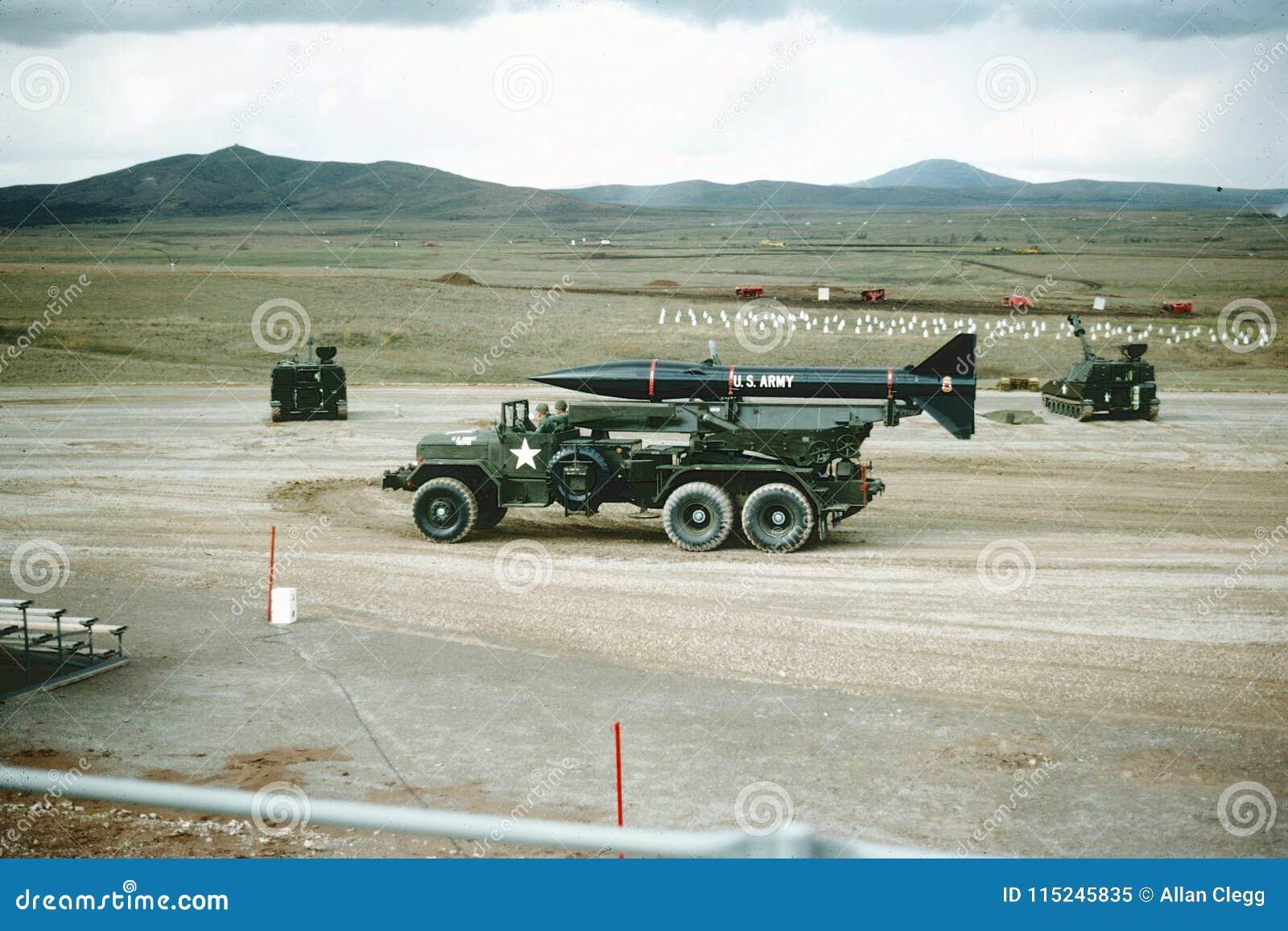 锡尔堡,俄克拉何马火炮范围1965年 道格拉斯老实人火箭