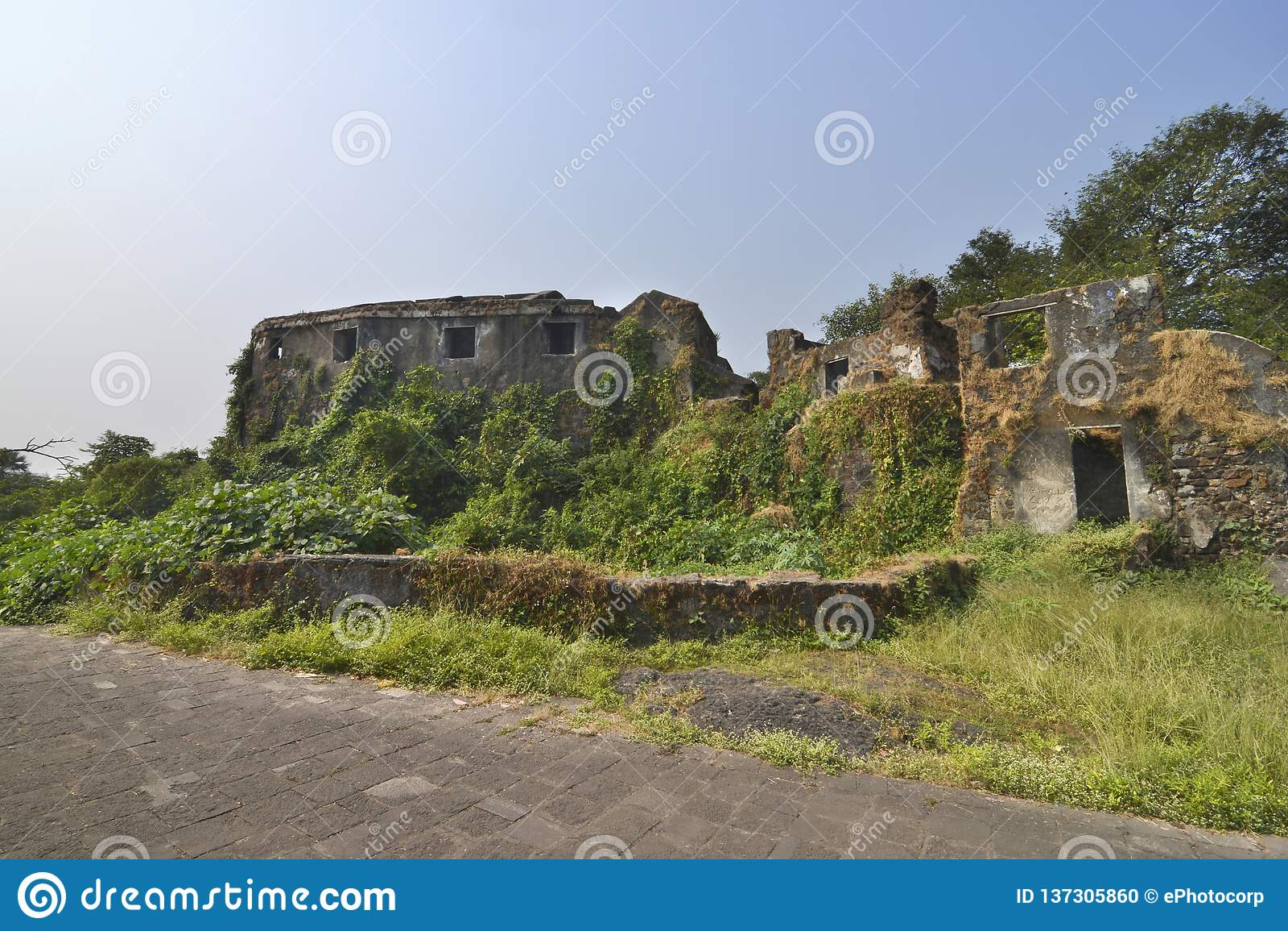 锡永小丘堡垒在孟买,印度