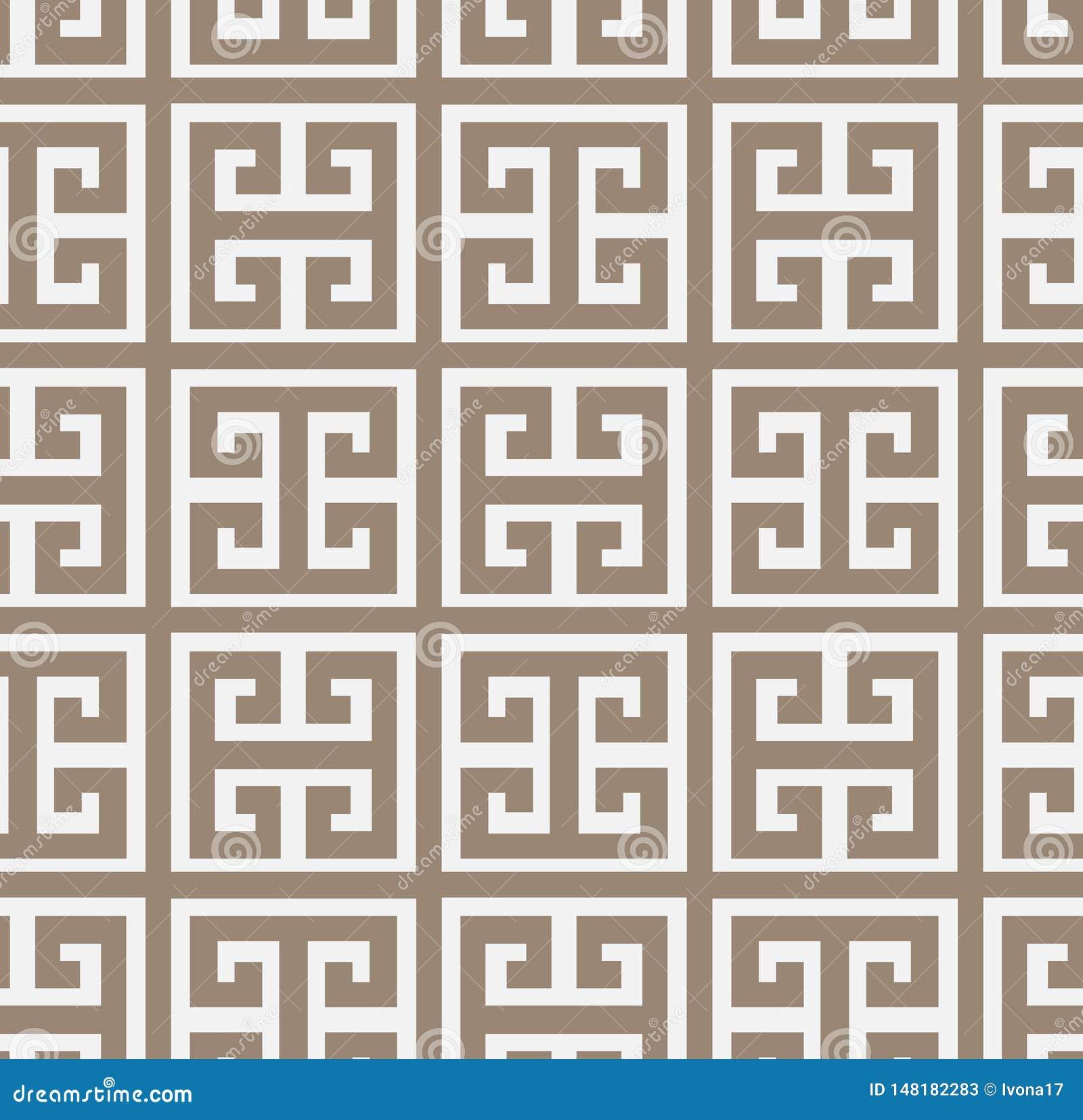 锦缎传染媒介样式希腊简单无缝典雅