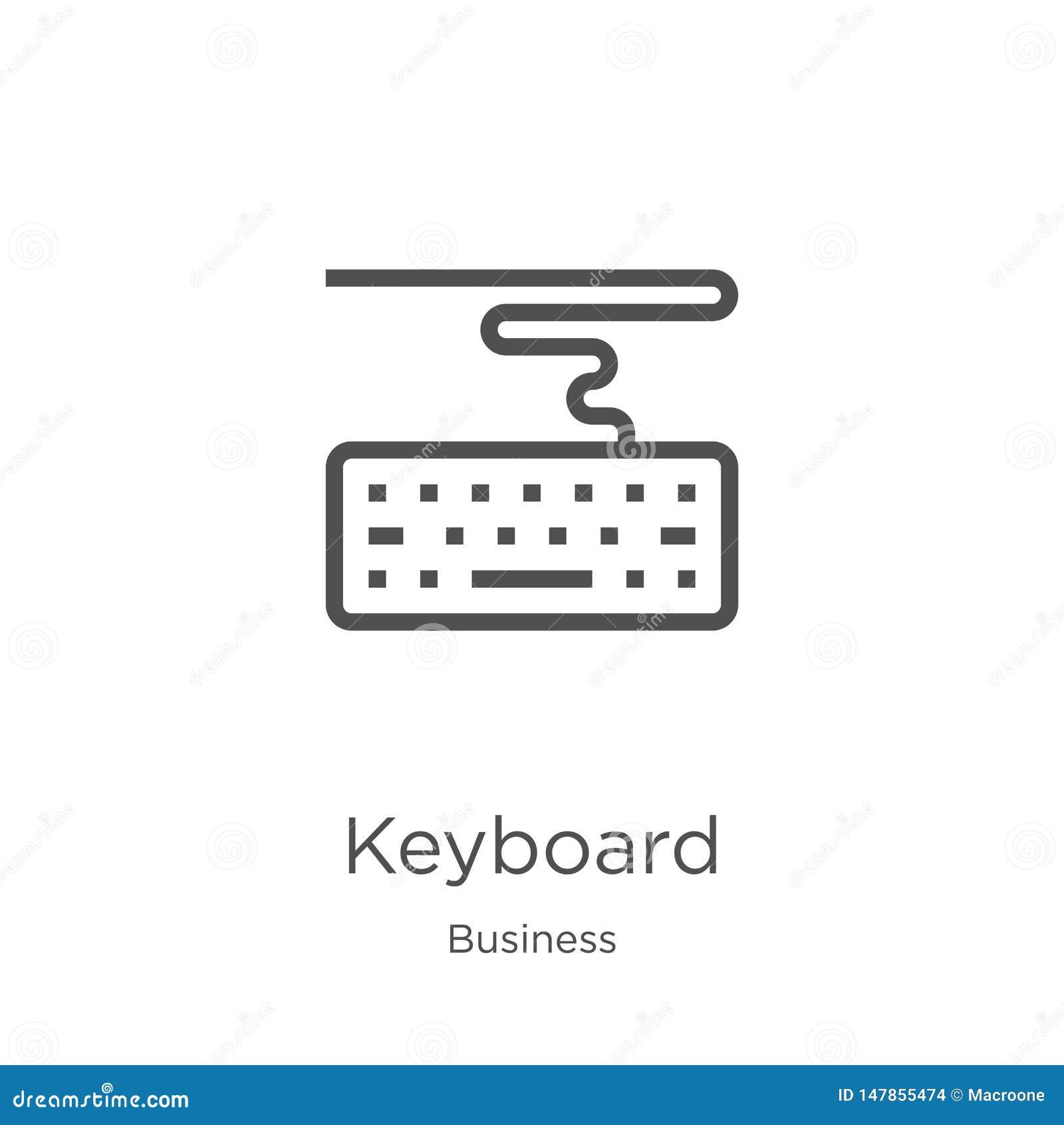 键盘从企业汇集的象传染媒介 稀薄的线键盘概述象传染媒介例证 概述,稀薄的线键盘
