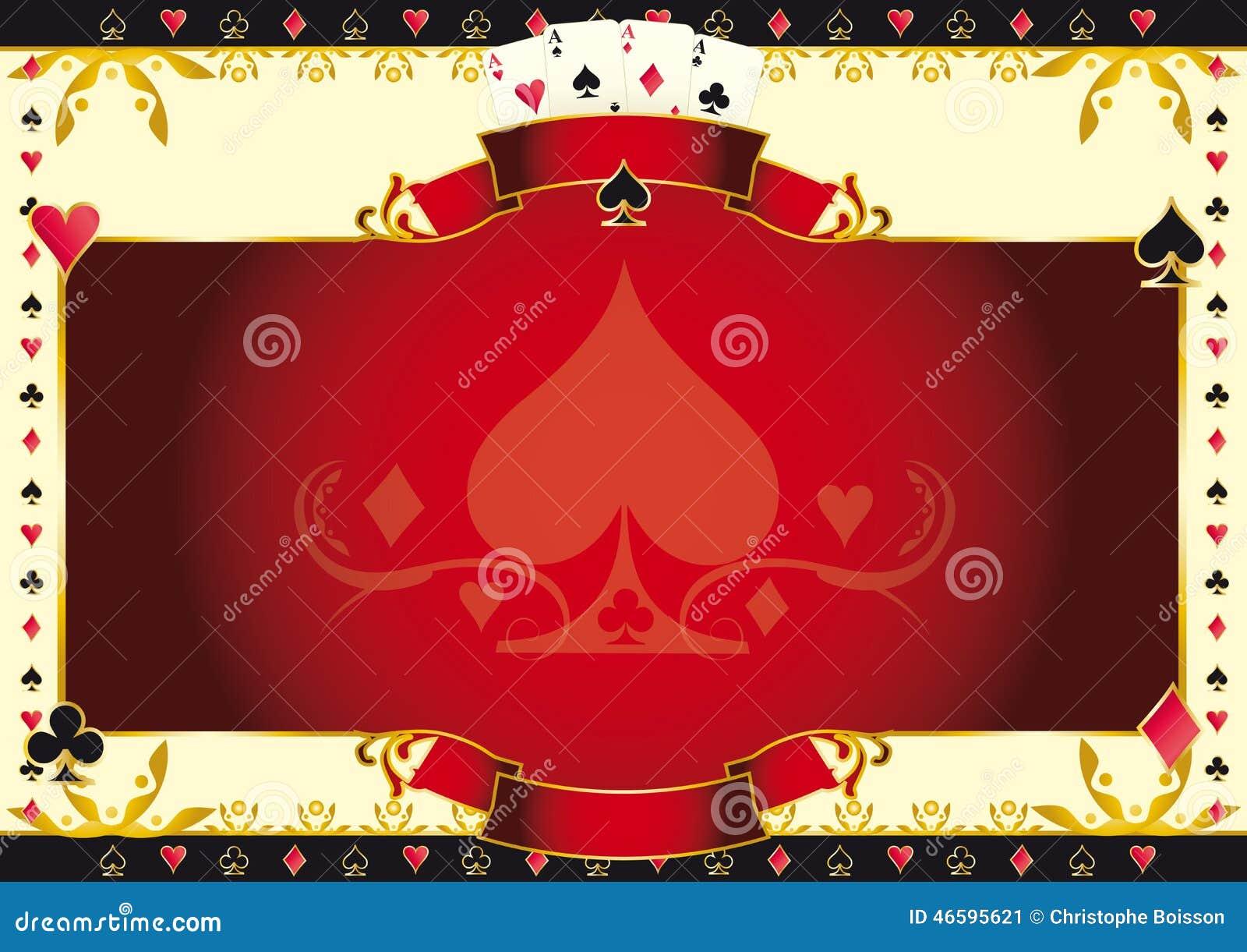 锹水平的背景扑克牌游戏一点
