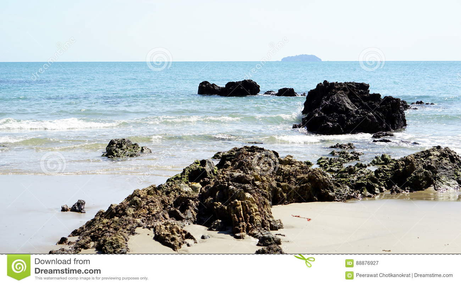 镇静热带海滩