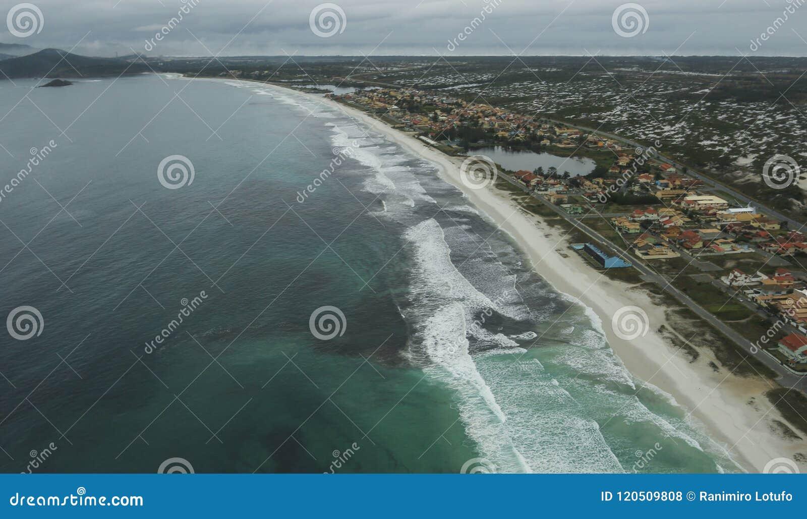 长和美妙的海滩, Recreio dos Bandeirantes海滩,里约热内卢巴西
